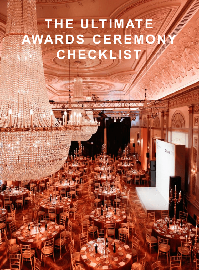 Awards Ceremony Checklist